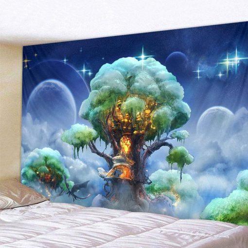 Flammender Baum Wandbehang
